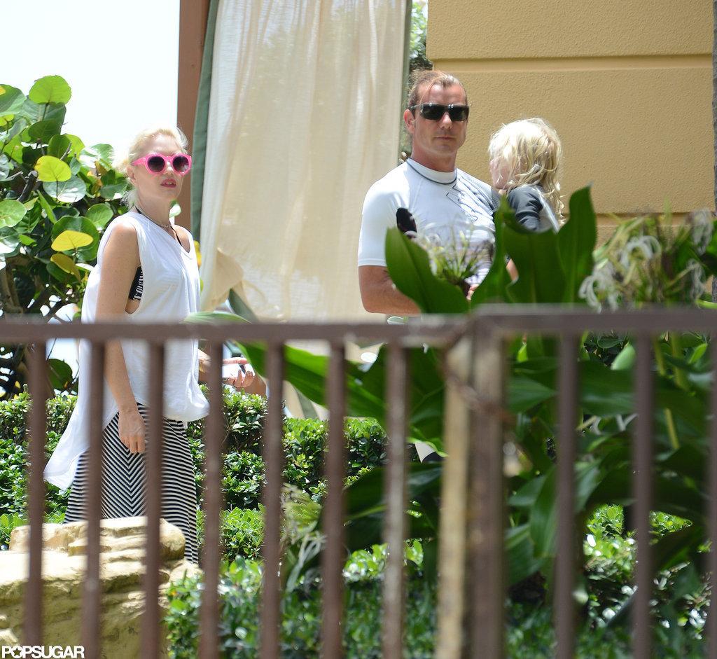 Gavin Rossdale carried Zuma Rossdale as Gwen Stefani followed close behind.