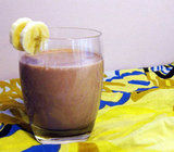 Made with chocolate soy milk, peanut butter, and Greek yogurt, this chocolate strawberry banana smoothie is full of protein with the perfect hint of sweetness.