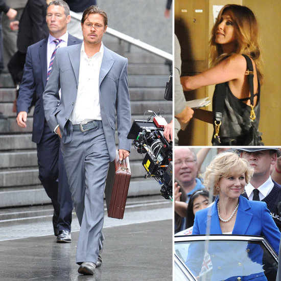 Brad Pitt, Jennifer Aniston, Naomi Watts, and More Stars on the Set