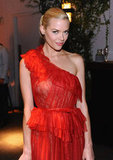 Jaime King wore a bright red dress to InStyle's summer party in LA.