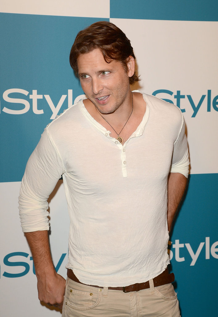 Peter Facinelli stopped by InStyle's Summer party in LA.