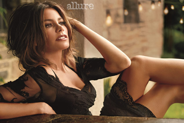 Sofia Vergara looked beautiful in her spread for Allure magazine.
