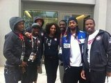 Serena Williams snapped a photo with the USA's track and field team. Source: Mobli user Serena Williams
