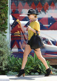 Nicole Richie left Andy LeCompte Salon in LA.