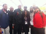 Serena Williams took a group photo with Team USA's basketball squad. Source: Mobli user Serena Williams