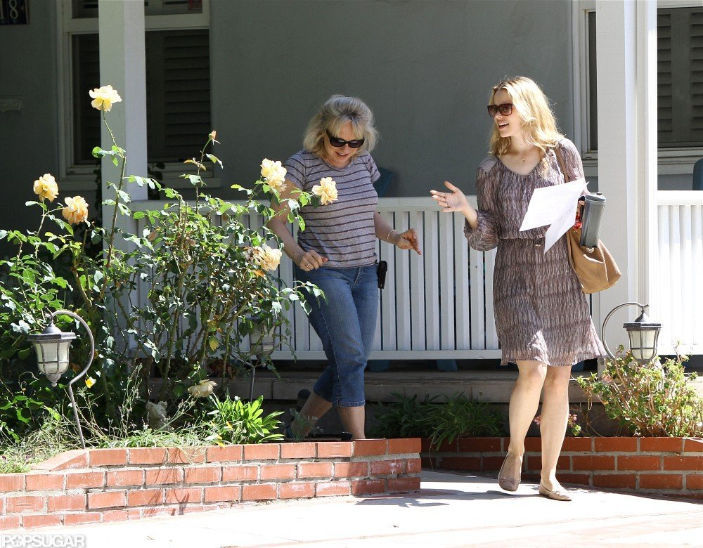 Rachel McAdams chatted with a friend in LA.