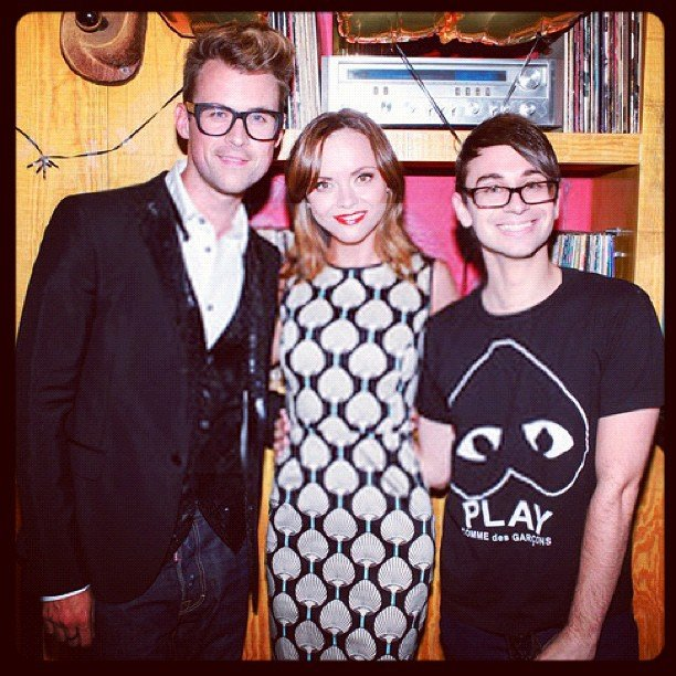 Christian Siriano and Christina Ricci helped wish Brad Goreski a happy birthday. Source: Instagram user csiriano