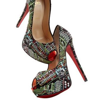 Lady Peep Geek Shoe by Christian Louboutin