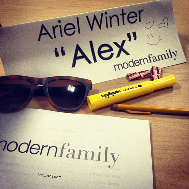 Ariel Winter gave us a peek at a Modern Family table read. Source: Instagram user arielwinter