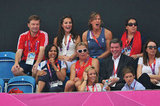 Kate Middleton watched the field hockey match.