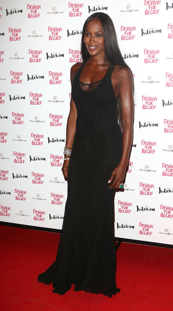 Naomi Campbell stepped out to host a Fashion for Relief charity dinner in London.
