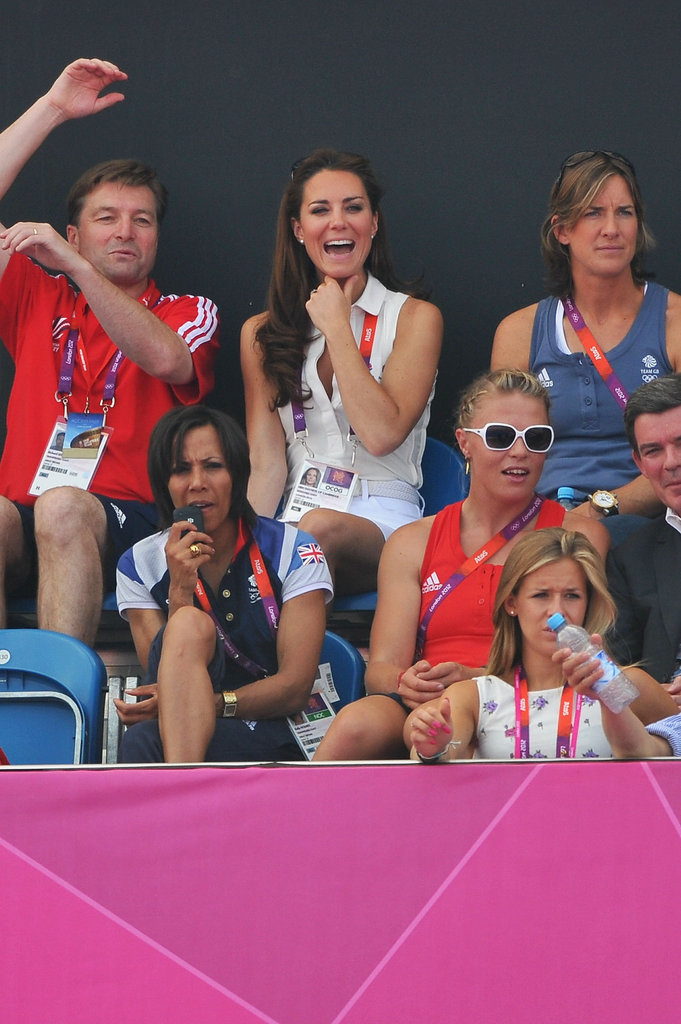 Kate Middleton cheered for the team.