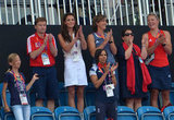 The Duchess of Cambridge watched the women's field hockey bronze medal match between New Zealand and Great Britain.