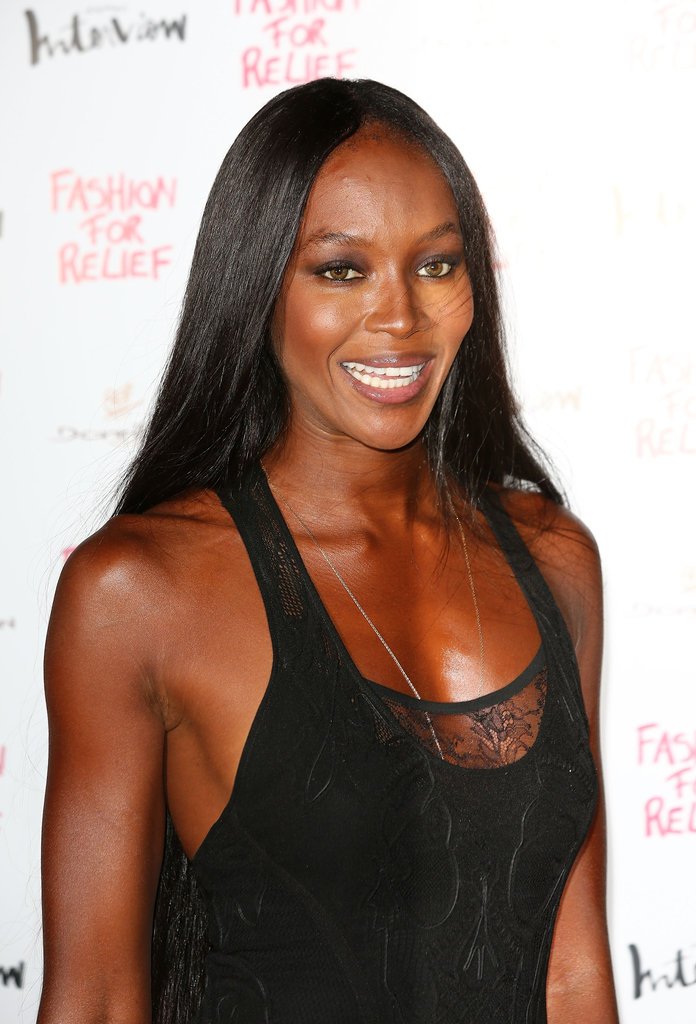Naomi Campbell hosted a Fashion for Relief charity dinner in London.
