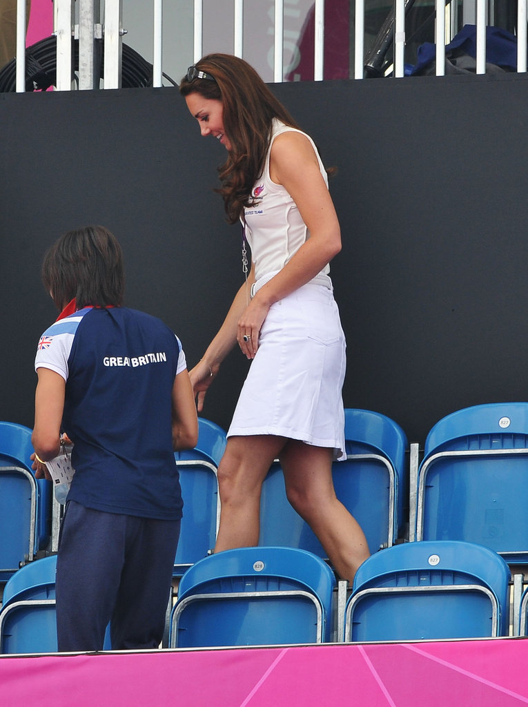 Kate Middleton sported a cute white outfit.