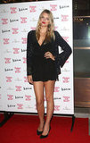 Lily Donaldson showed off her legs in a black minidress at Naomi Campbell's Fashion for Relief charity dinner in London.