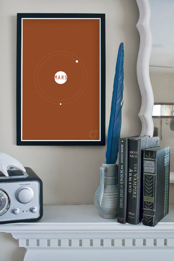 The Planets Series: Minimalist Poster Art ($18)