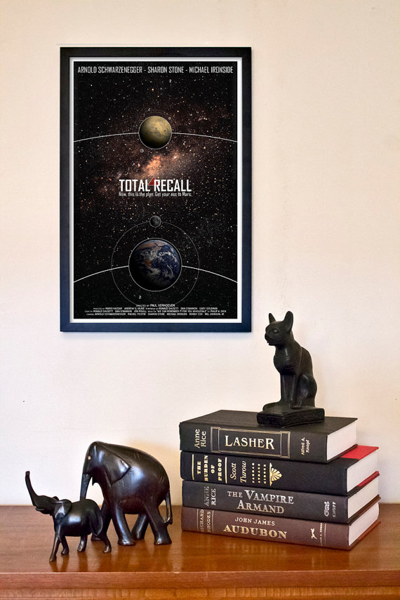 Total Recall: Science Fiction Movie Poster ($18)