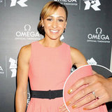 Jessica Ennis Gold Nails