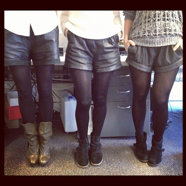 It was an accident, we swear! Account manager Sam, Publisher Marisa and FabSugar Editor Ali synchronised outfits.