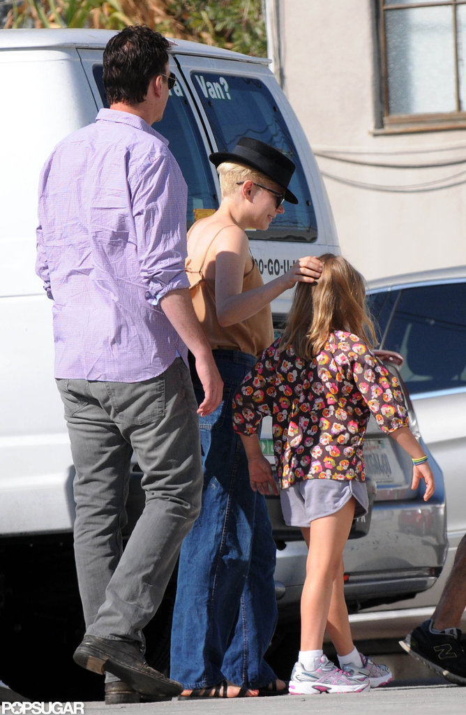 Michelle Williams and Jason Segel had a day out with Matilda Ledger.