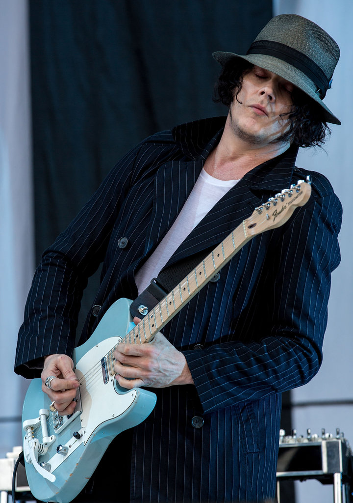 Jack White played songs from his new solo album.