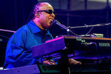 """Stevie Wonder had the crowd singing along to hits like """"Sir Duke"""" and """"Superstition."""""""
