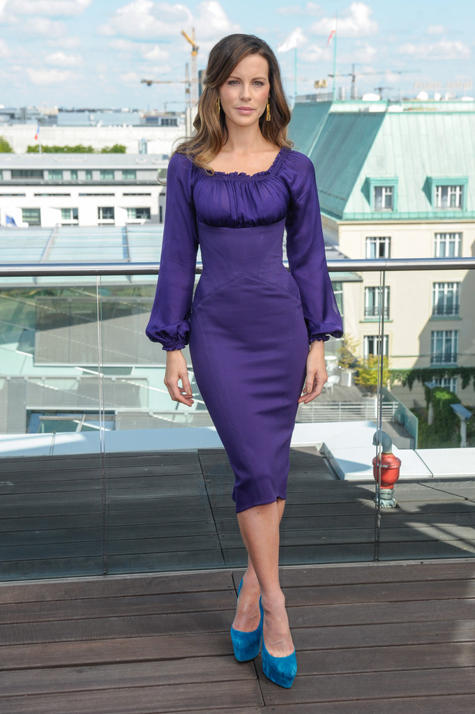 Kate Beckinsale posed at the Total Recall photocall in Berlin.