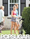 Taylor Swift got into a bikini in Hyannis to visit boyfriend Conor Kennedy.