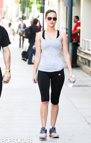 Jennifer Lawrence Works on Her Fitness During an LA Gym Trip