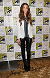 Donning a cool, leather-infused mix of Rag & Bone pieces, Kate Beckinsale put a tougher spin on monochromatic dressing at Comic-Con.