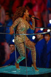 Melanie Brown, aka Scary Spice, rocked a sequined bodysuit by Zuhair Murad.