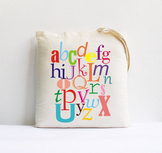 Back to School Alphabet Tote ($17)