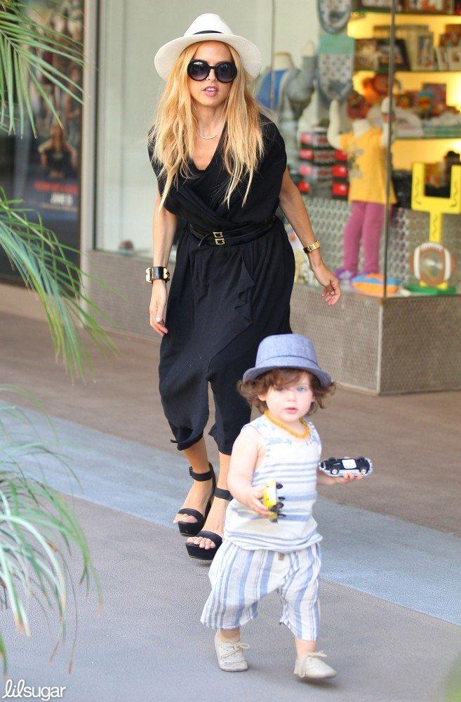 Rachel Zoe took her son, Skyler, to shop at Kitson Kids in LA.