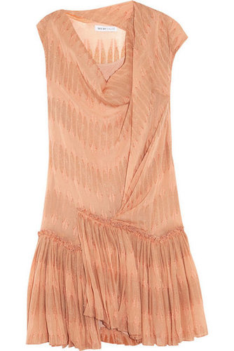 See by Chloé|Metallic-flocked silk-blend georgette dress