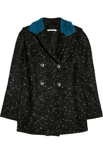 Carven | Contrast-collared bouclé coat | NET-A-PORTER.COM