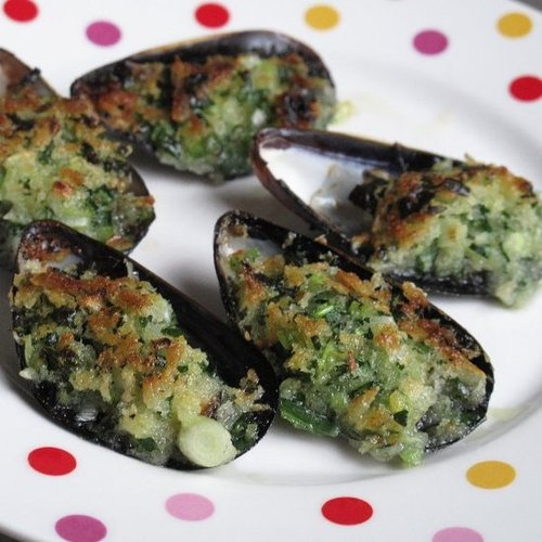 Julia Child Gratineed Mussels Recipe