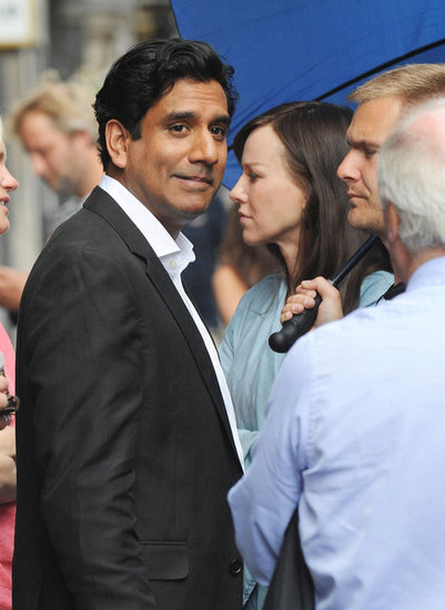 Naomi Watts and Naveen Andrews filmed a scene in London.