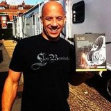 Vin Diesel showed off his Ludacris-approved headphones. Source: Instagram user itsludacris