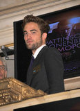 Robert Pattinson opened the New York Stock Exchange.