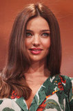 Miranda Kerr wore her hair down.