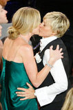 Ellen DeGeneres and Portia de Rossi kissed at the June 2008 Daytime Emmy Awards.