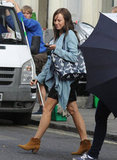 Naomi Watts wore ankle boots on the set of Diana.