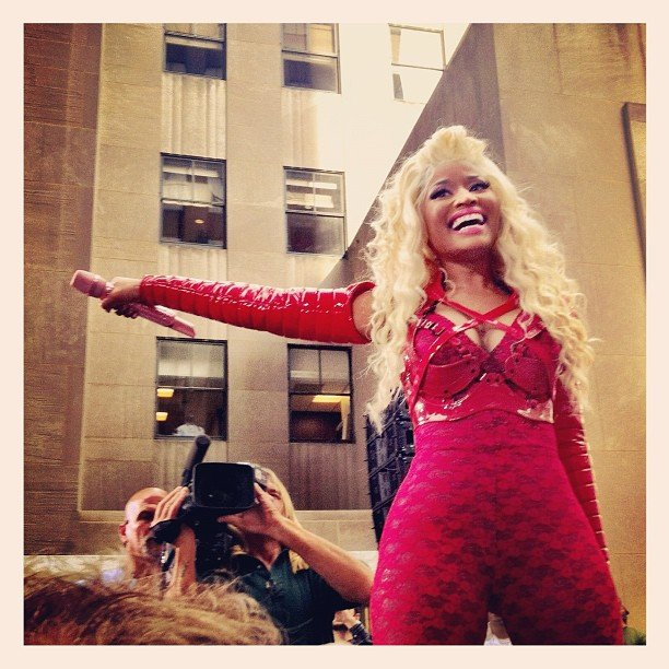Nicki Minaj performed on the Today show. Source: Instagram user todayshow