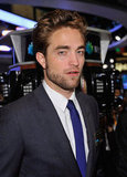 Robert Pattinson was at the New York Stock Exchange.
