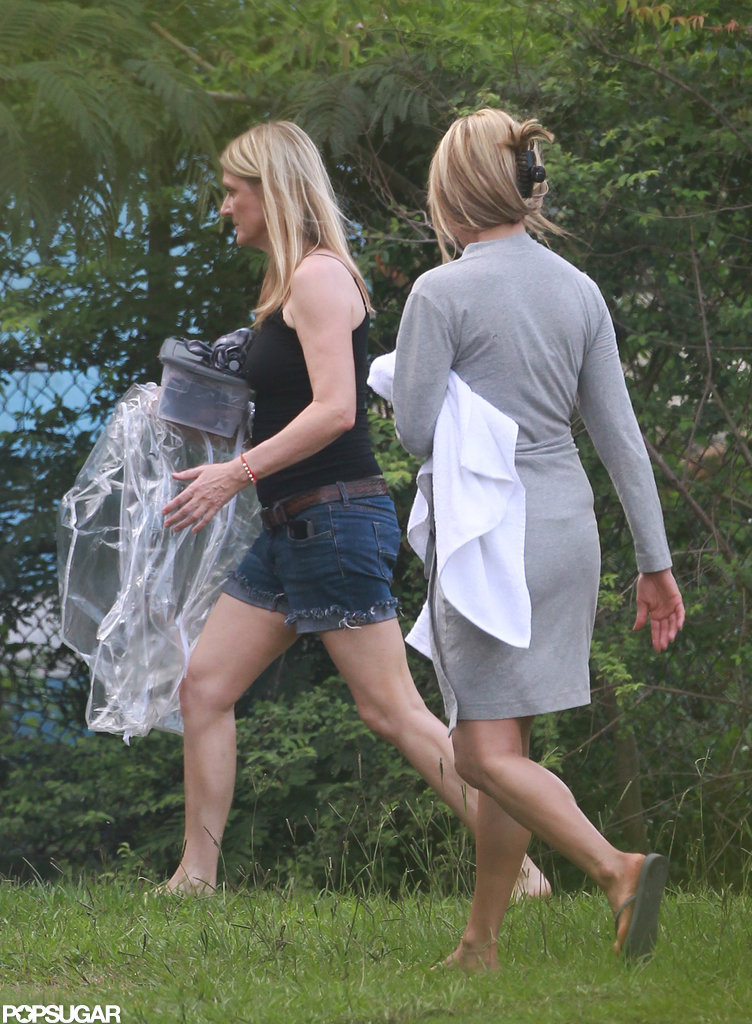 Jennifer Aniston on set in Wilmington, North Carolina.
