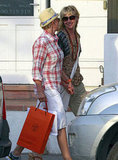 Ellen DeGeneres and Portia de Rossi shopped during a December 2010 vacation to St. Barts.