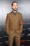 Shia LaBeouf attended the Lawless screening in NYC.