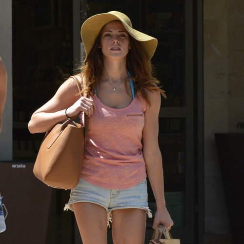 Ashley Greene Wearing Floppy Hat