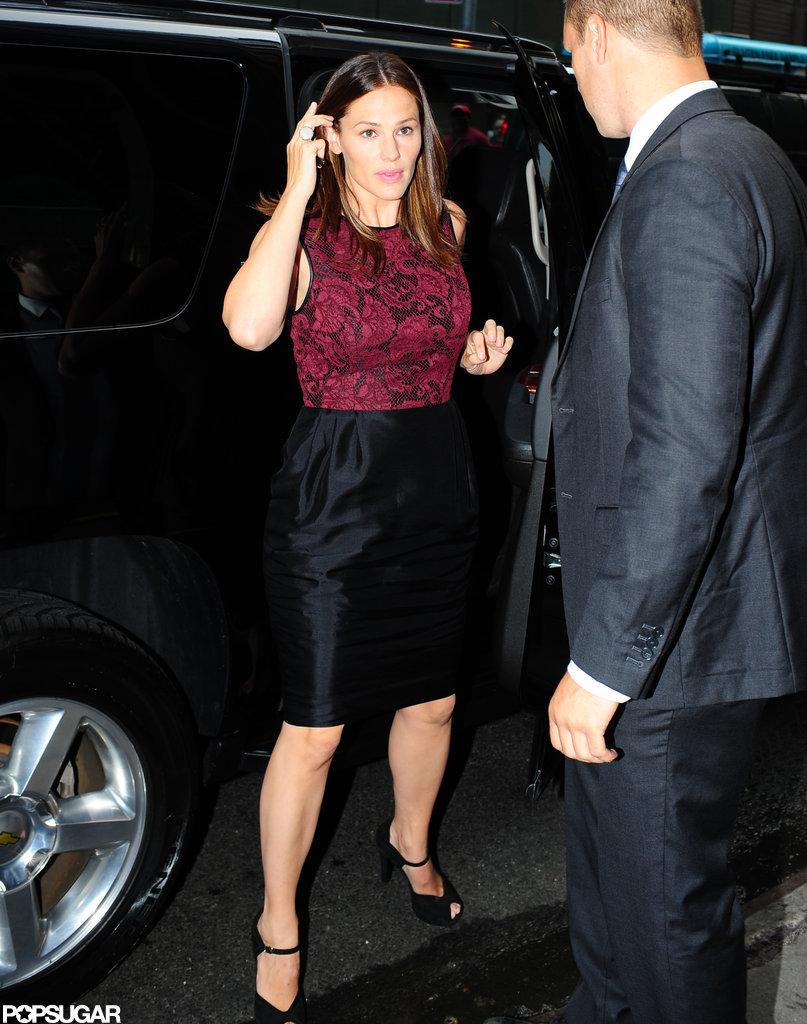 Jennifer Garner got out of her car at Good Morning America.